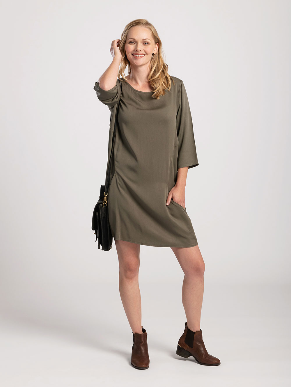 Pocket Dress in Olive