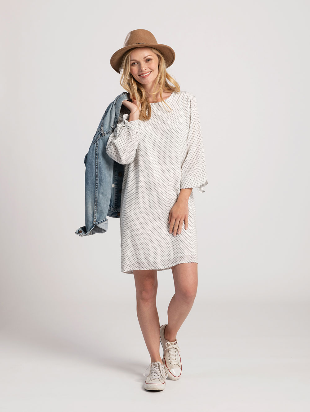 Tie Sleeve Dress main image