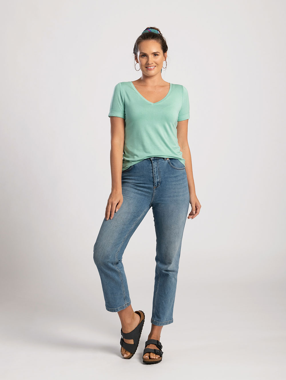 Mint Green V-Neck Tee